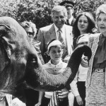Nancy Reagan 'Trunk Call' London Zoo  1